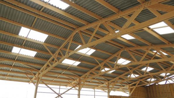 charpente bois stockage materiel