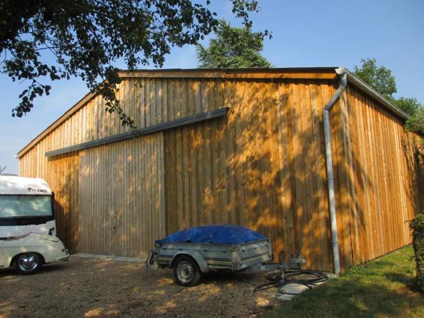 stockage vehicule charpente bois