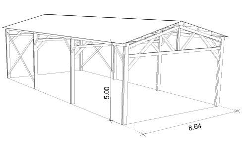 ferme bois batiment agricole. Black Bedroom Furniture Sets. Home Design Ideas