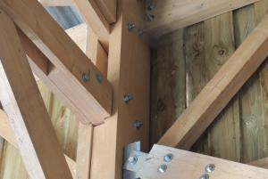 Assemblage d'un bâtiment en bois