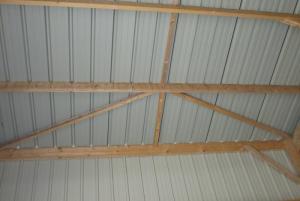 detail charpente bois sous couverture bac acier