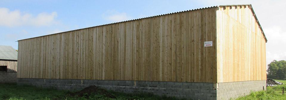 Batiment agricole en bois with cout batiment industriel for Cout batiment industriel m2